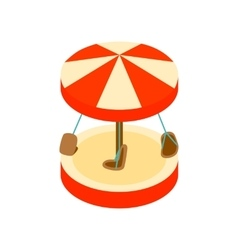 Merry-go-round isometric 3d icon vector image