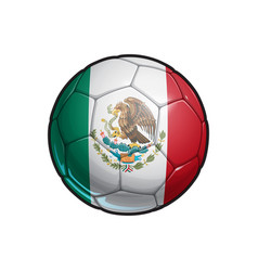 Mexican flag football - soccer ball vector