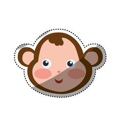 monkey cartoon drawing head vector image