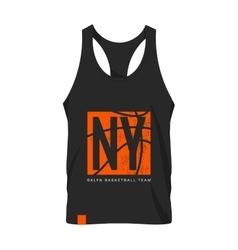 New York shirt emblem mock-up vector image