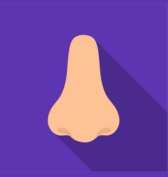 Nose icon in flat style isolated on white vector