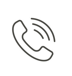 phone icon line telephone symbol vector image
