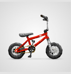 polygonal 3d bike vector image