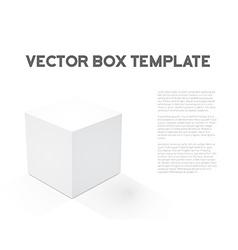 Realistic 3D Cube Device Box Icon vector image