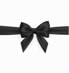 realistic black bow element for decoration gifts vector image