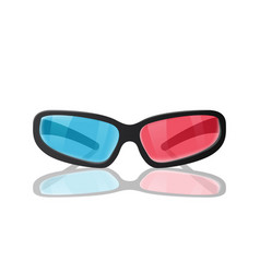 realistic plastic glasses for 3d movies vector image