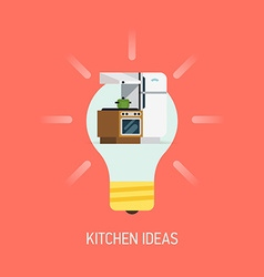 Room Ideas for a Kitchen vector image vector image