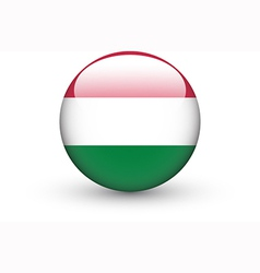 Round icon with national flag of Hungary vector image