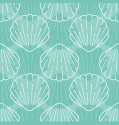 seashell seamless pattern background vector image