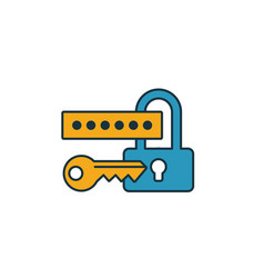 Security login icon simple element from web vector