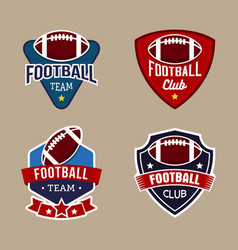 set of football badge logo design template vector image