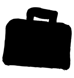 silhouette of briefcase vector image