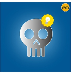 Skull get bright idea vector image