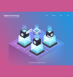 Software development and programming coding vector