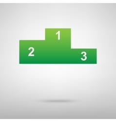 Sport winners podium green icon vector