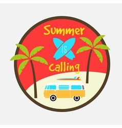 summer calling vector image