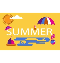 summer time seasonal vacation at the beach vector image