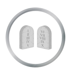 Ten Commandments icon in cartoon style isolated on vector image
