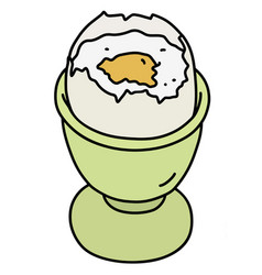 The soft boiled egg vector