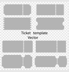 tickets templates cinema theater circus vector image