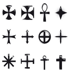 vector various religious symb vector image vector image
