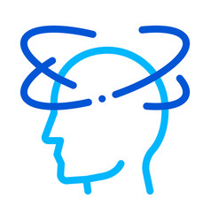 vertigo dizziness man silhouette headache vector image