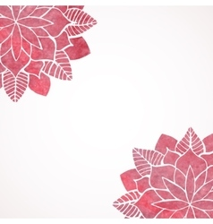 Watercolor pink flower pattern vector image