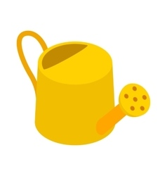 Yellow watering can icon isometric 3d style vector