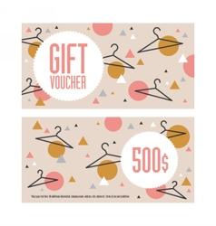 Gift voucher template Both sides Envelope size vector image vector image