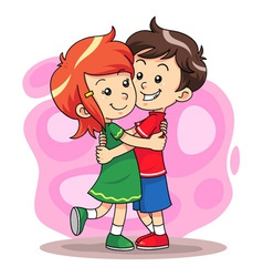 Hug Play 1 vector image vector image