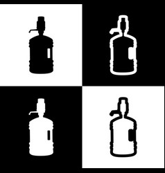 plastic bottle silhouette with water and siphon vector image vector image