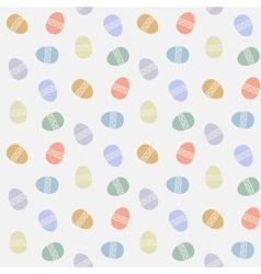 seamless pattern with abstract easter eggs vector image vector image