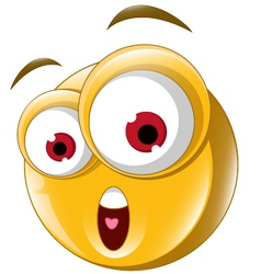 Surprise Expression for you design vector image