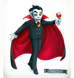 vampire happy halloween 3d icon vector image