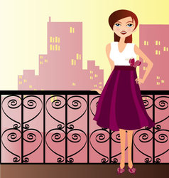 woman with dress vector image