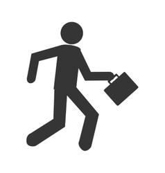 Businessman working pictogram graphic design vector image