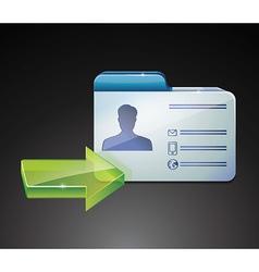 glossy indentivication card vector image