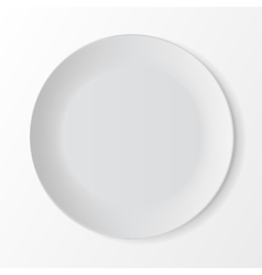 White Round Plate on Background Table Setting vector image
