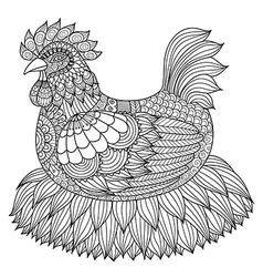 chicken coloring book vector image vector image