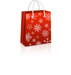 Christmas Red Shopping Bag vector image vector image
