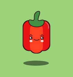 cute vegetable pepper cartoon character flat vector image vector image