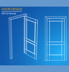 Design and manufacture of doors vector