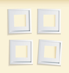 four modern clean picture frames vector image vector image