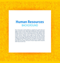 Human resources paper template vector