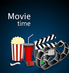 Movie time vector image vector image