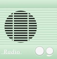 Old blue vintage retro style radio receiver vector image vector image