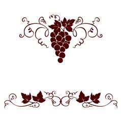 Set design elements - grape vector image vector image