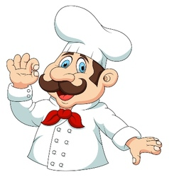 Chef cartoon vector image vector image