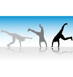 Figure jump in three steps vector