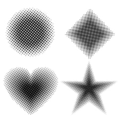 Halftone shapes vector image